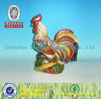 hand painted ceramic rooster