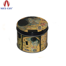 Mysterious Small Round Aluminum Tins for Valentine Gift Box