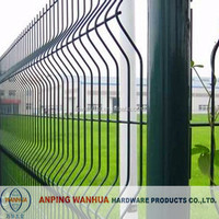 best quality pvc coated garden curved fence(anping factory)