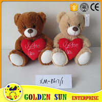 Valentine fashion teddy bear custom stuffed soft plush toy manufacturer