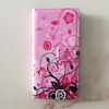 Flower/Star/Cartoon/ Leather Wallet Case with tpu cover lovely girl flip phone case