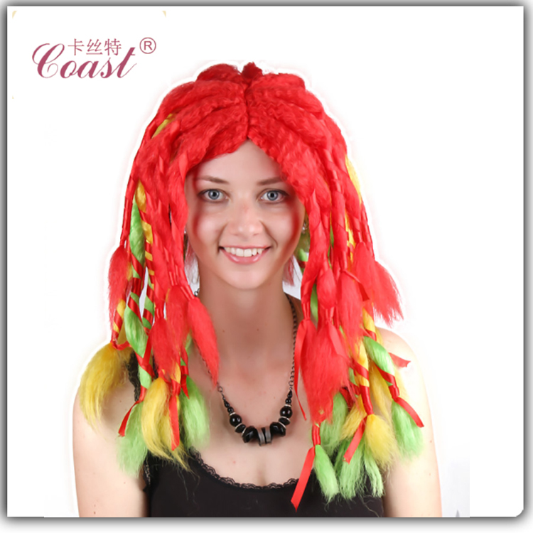 women's colorful wig african braided wig for black men