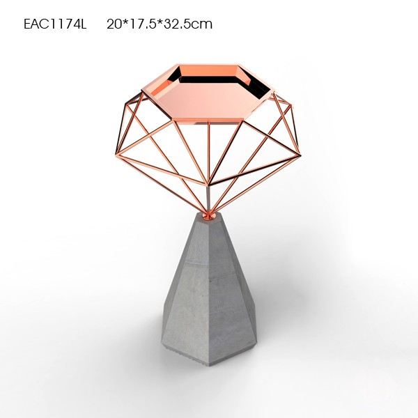 New design Concrete Candle Holder with Leather Decoration