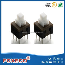 12v push button switch 5.8*5.8mm dip switch PTS-18S with high life china manufacture