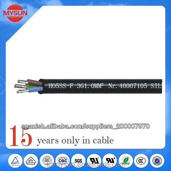 super flexible down light high silicon power cable H05SS-F