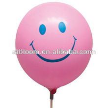 "3.2g 12"" Printed Round Latex Ballons With Smile Printing"