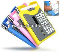 Calculator With Name Card Case And Ball Pen Solar Power