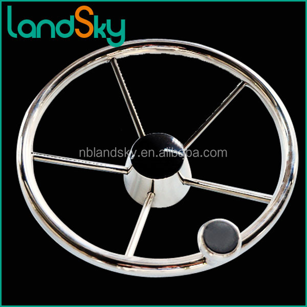 LAccessories Electronic Equipment Lifeboat marine Stainless steel steering wheel 13.0 / 15.5-inch boat accessories ship hardware