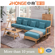 nordic living room furniture fabric modern design l shaped new model wooden sofa sets