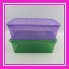 colorful plastic shoe box containers