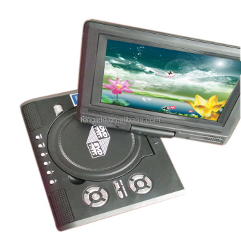 7 inch portable dvd player support SD MCC MS Card