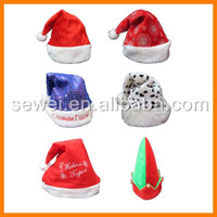 Wholesale good quality plush/Gold velvet christmas santa hat/Christmas hats ideas