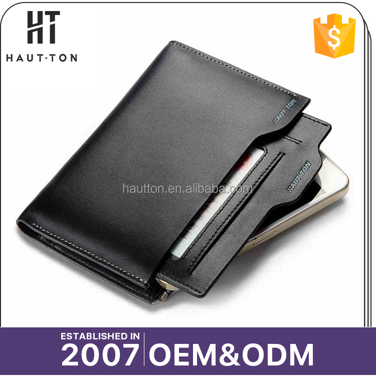 2017 Latest Design Fashion Men Magic Slim Vertical Wallets High Quality Popular Top Layer Leather Wallet