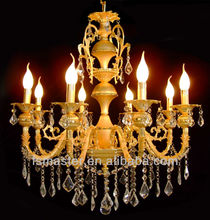 modern 8-lightsThe style of palace Glass Chandelier With Candle Bulb /glass chandelier pendant light