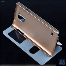 Cover For Samsung Galaxy Note 4 Wallet Folding Sand Leather Case cover for Galaxy Note 4