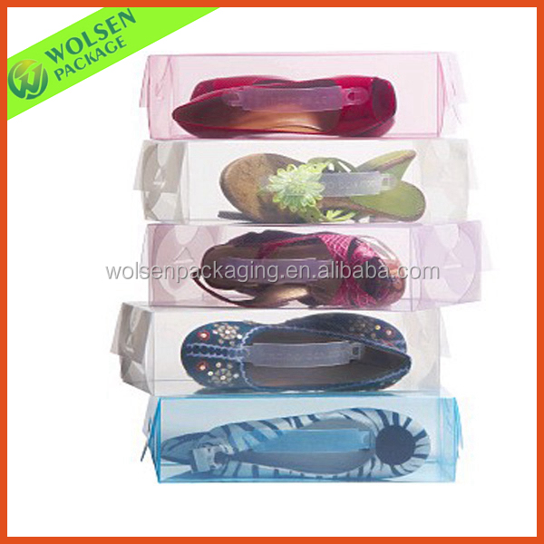 Customized clear pvc shoe box