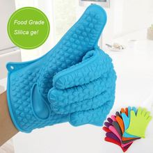 China Silicone Manufacturer Oven Bbq Grill Mitt Liner Silicone Baking Gloves
