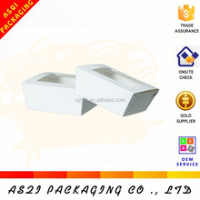 transparent plastic PVC window sandwich food packaging paper box for food