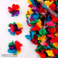 High Quality New Products 3D Flower Chiffon Lace Trimming For Dress & Skirt