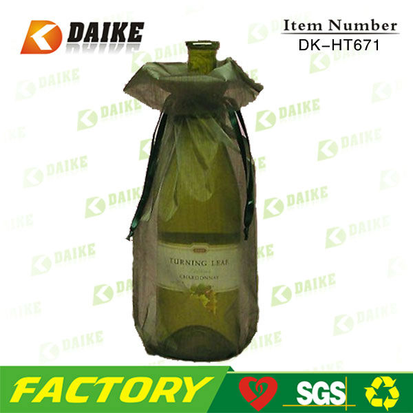 High Quality Factory Organza 2 Bottle Wine Bag for Wholesale
