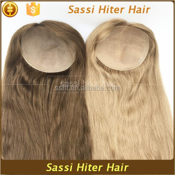 Natural Looking Human Hair Women Toupee