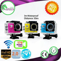 TOP SALES SJ7000 WIFI underwater camera for free diving 1080P 170 WIDE ANGLE FISH EYE LENS SPORT DV