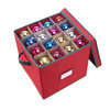 Holiday Red Cardboard Christmas Ornament Storage Box Containers ChestWith Card Sticker
