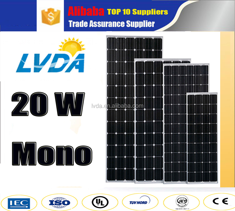 Factory directly sale lowest price 20w mono solar panel
