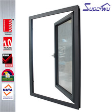 White color swing door aluminum exterior double interior stained glass swing door for commercial