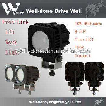 10W LED Flood Light, Motorcycle Driving Lights, 4X4 Spot Lights