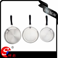 Korea saucepan set stainless steel frying pan non-stick fry pan as seen on tv with long bakelite handle