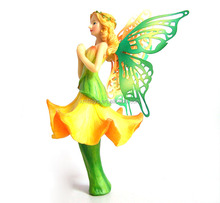 Decorative resin angel figure for home decoration resin wings fairy