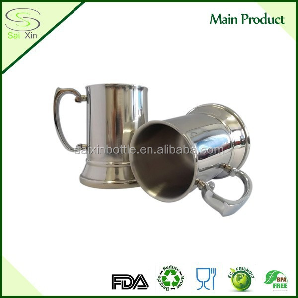 Wholesale Pewter Stainless Steel Tankard/Stainless steel Beer Tankard