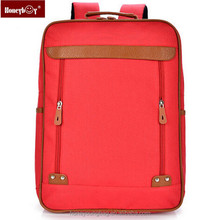 Wholesale canvas school bag red for girl school student