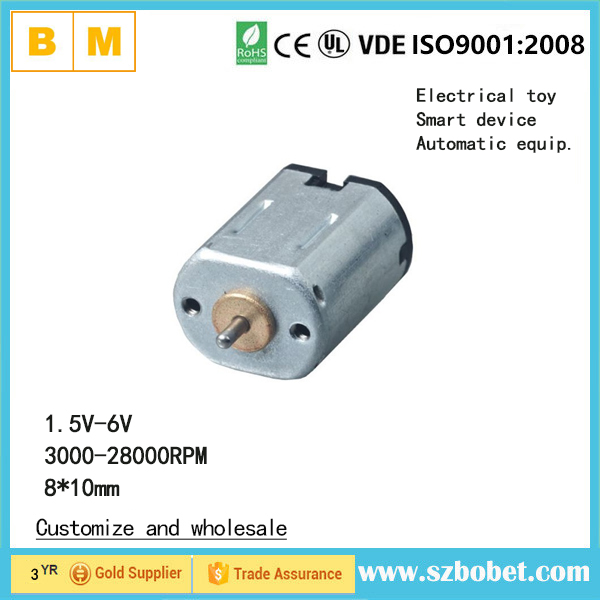 Small DC motor <strong>manufacturer</strong> price high speed 8*10mm 3v DC Motor