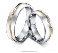 Chengfen factory direct sale korean high quality couple wedding platinum rings