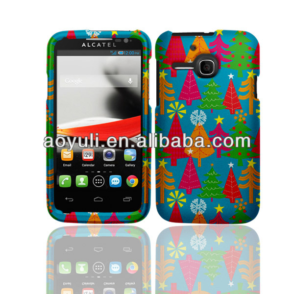 case for Alcatel one touch Evolve, Christmas Trees phone case with hard PC, for Alcatel phone case