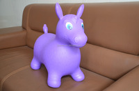 Updated animal inflatable toy jumping horse with non-toxic PVC material