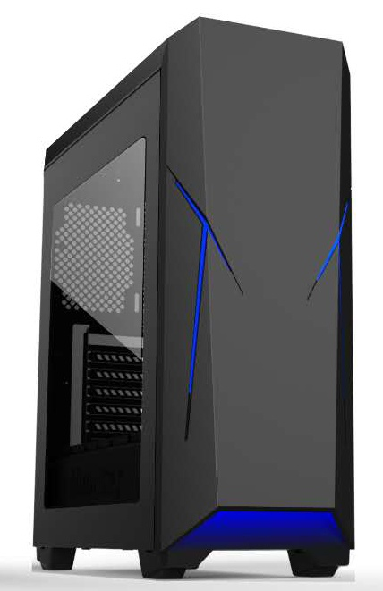 Wholesale Top Sale Acrylics Window Gaming ATX PC Case for Huntkey