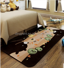 Flannel children bedroom carpet of cute cartoon baby crawl pad