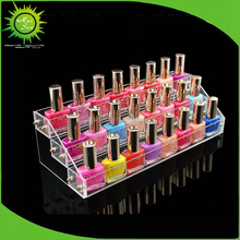 Fashion Design Nail Polish Organizer Rack Display Acrylic Stand Makeup Storage Wall Mount For Beauty