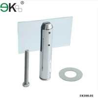 frameless mirror mounting hardware spigot