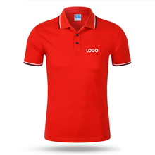 polo shirt custom logo short sleeve mens womens clothing hot sale