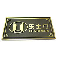 Metal cast iron name plates