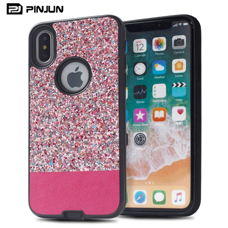 Beautiful Mobile Phone Back Cover For iPhone 10 Case,Bling Diamond Customized Mobile Phone Cover For iPhone X/8/8P/7/7P