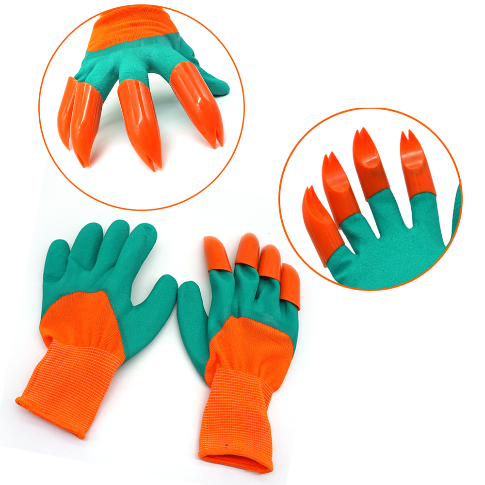 New Generation Garden <strong>Gloves</strong> With Plastic Claws Digging Planting Latex Greenhouse Work Fingertips
