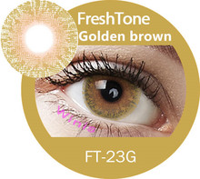 Monthly bright-view qualitative FreshTone stunning golden hazel Golden ash cosmetic color contact lens
