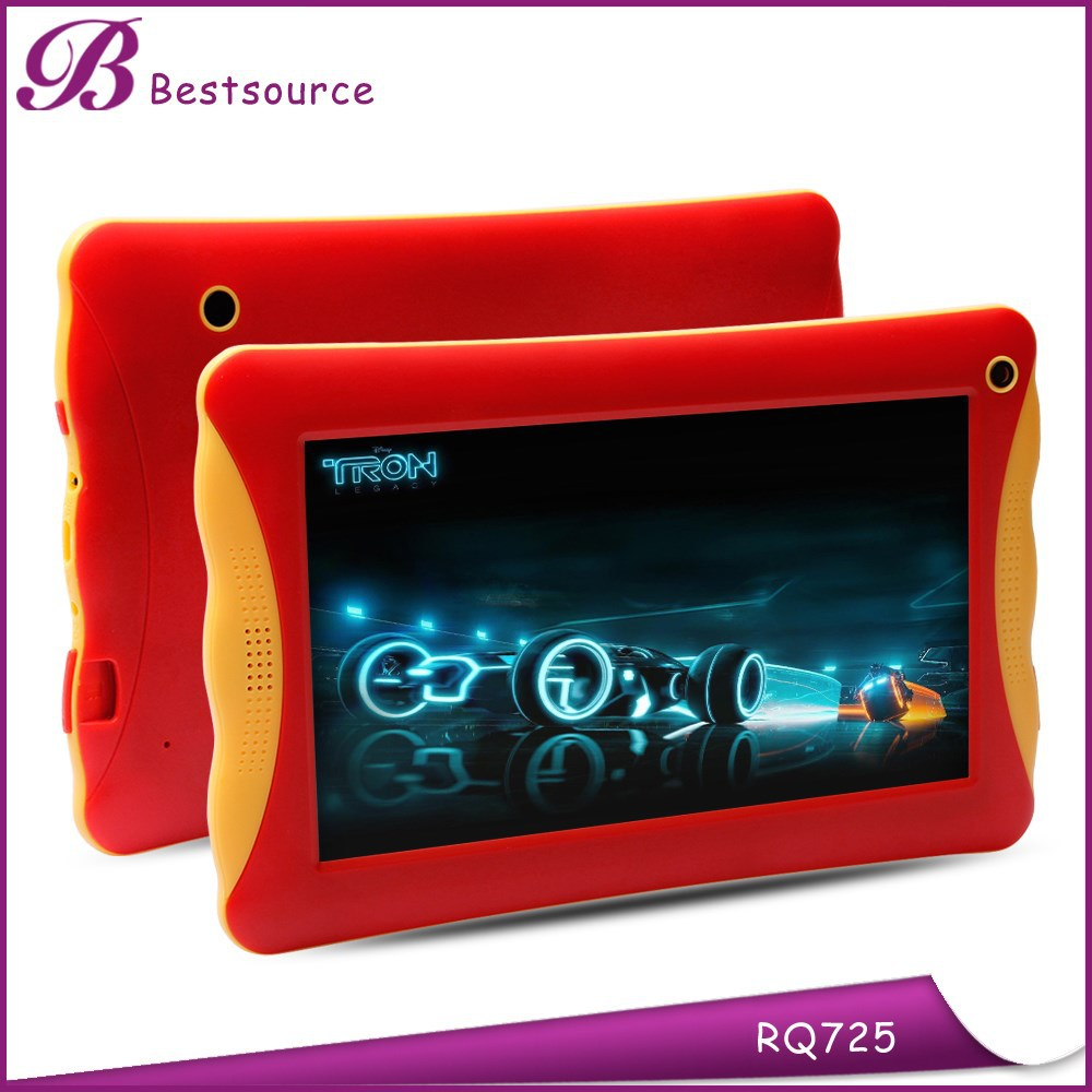 "New Product for 2015 RAM 1GB ROM 8GB dual camera android 4.4 RK3126 Quad Core wifi Bluetooth shock proof kids 7"" tablet case"
