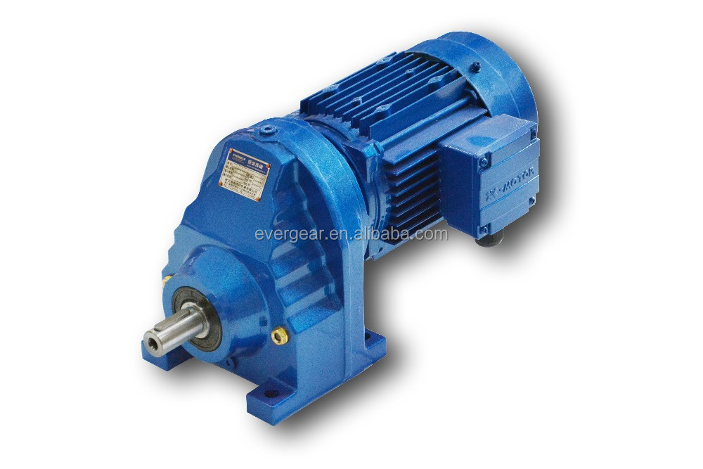 RX series electric motor speed reducer, 1 stage helical gear reducer