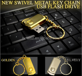 Hot Selling twister usb flash drive 8GB Swivel pen drive 16GB metal usb memory stick with keychain for promotional gifts